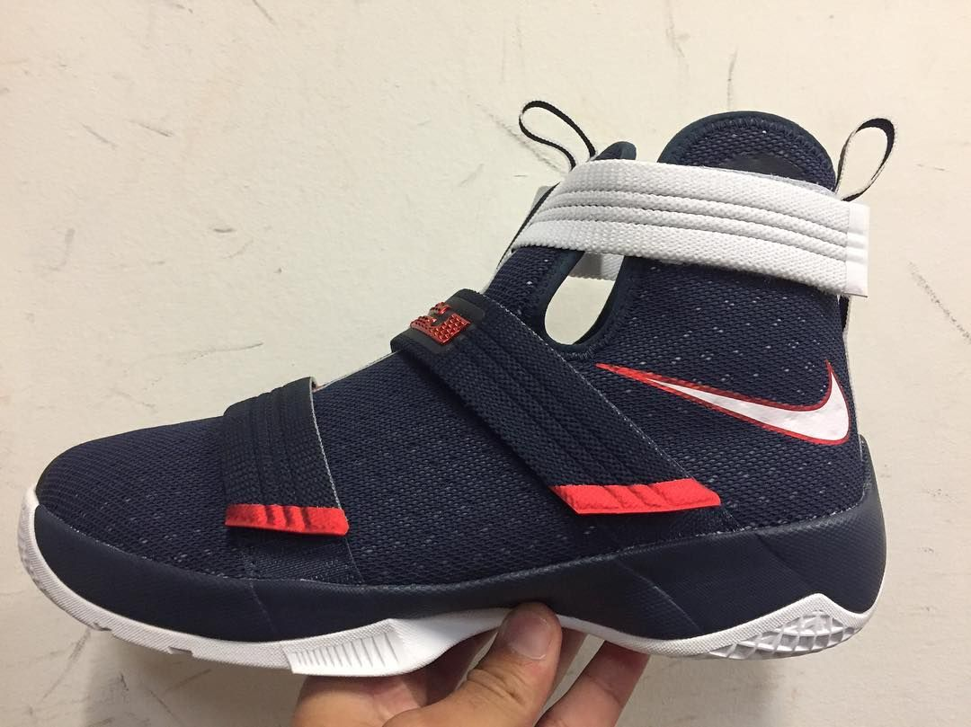 Here's a first look at the Nike LeBron Zoom Soldier 10 in the USA colorway that is expected to release on July
