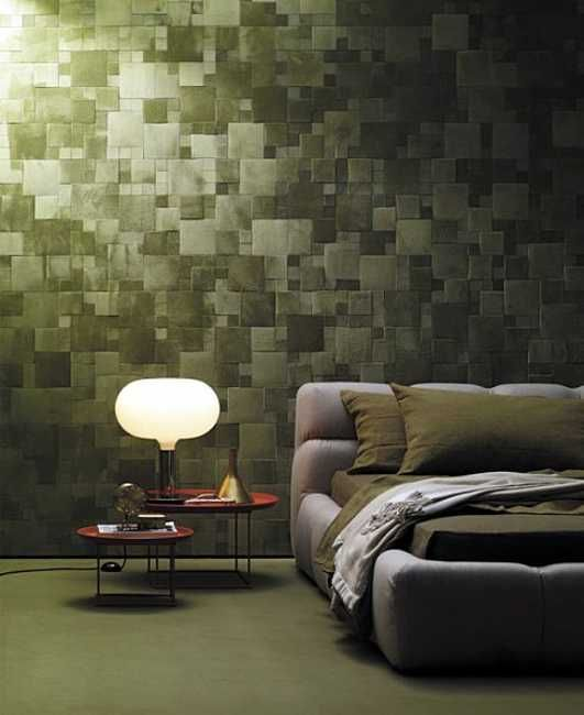 Decorative Tiles For Bedroom Walls Divine Renovations Decorative Tiles #patchwork #green #moody