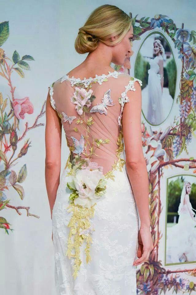 "Claire Pettibone .. ""Papillon"" wedding gown .. '<3"