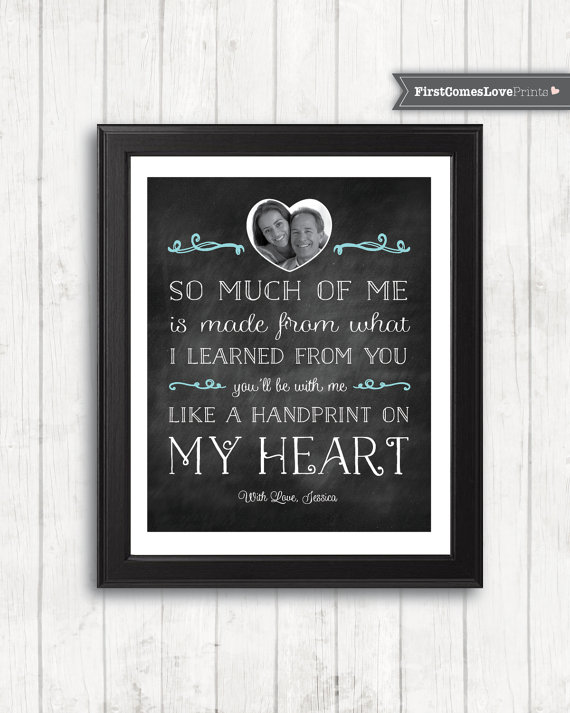 Fathers Day Gift Present From Teen By FirstComesLovePrints On Etsy