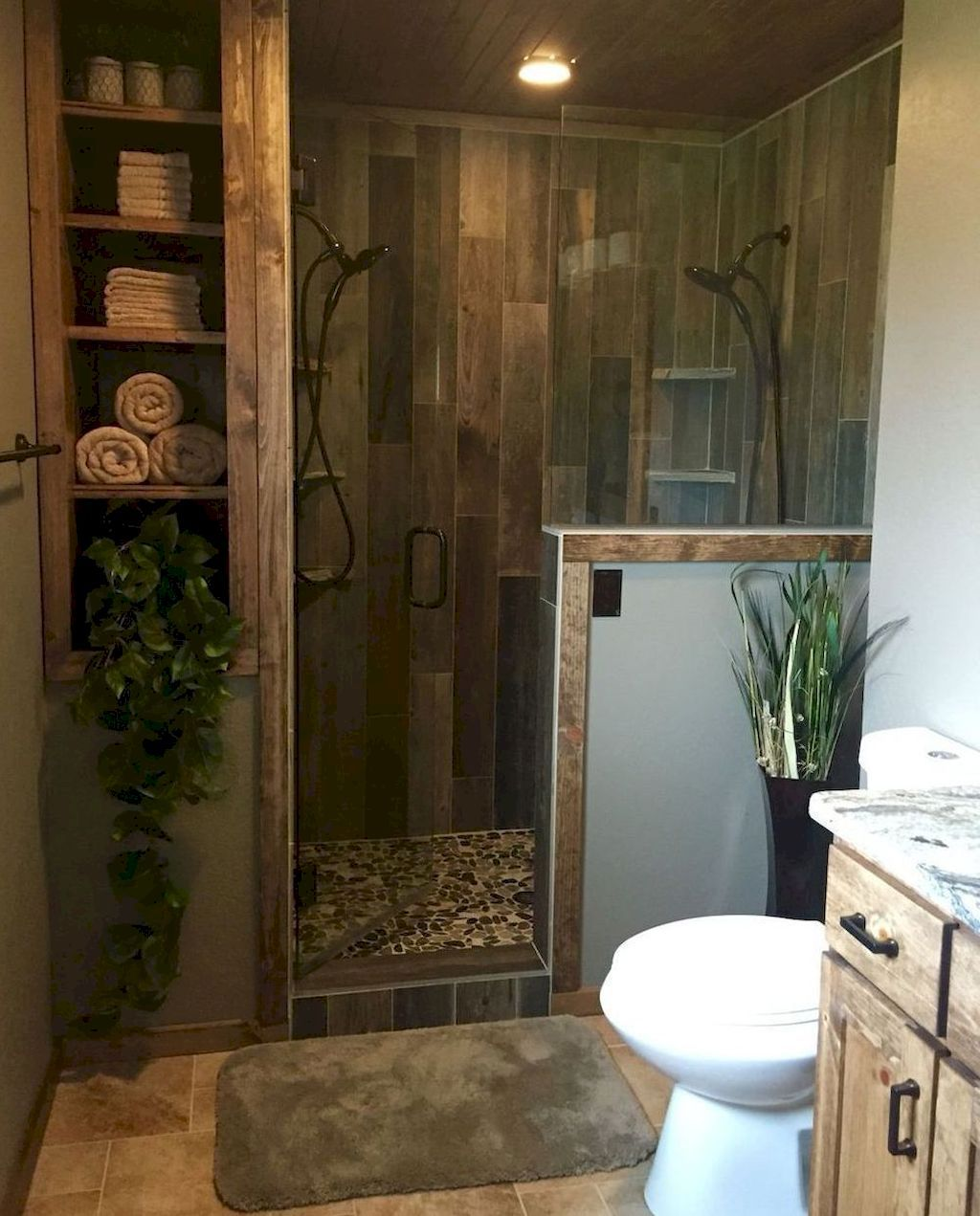 80 Rustic Farmhouse Master Bathroom Remodel Ideas #rusticbathroomdesigns