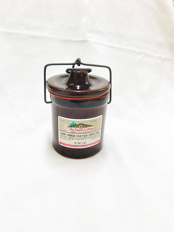 Cheese jars vintage jar swiss colony kitchen decor