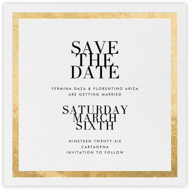 Editorial II (Save the Date) - White/Gold - Paperless Post Hsbc