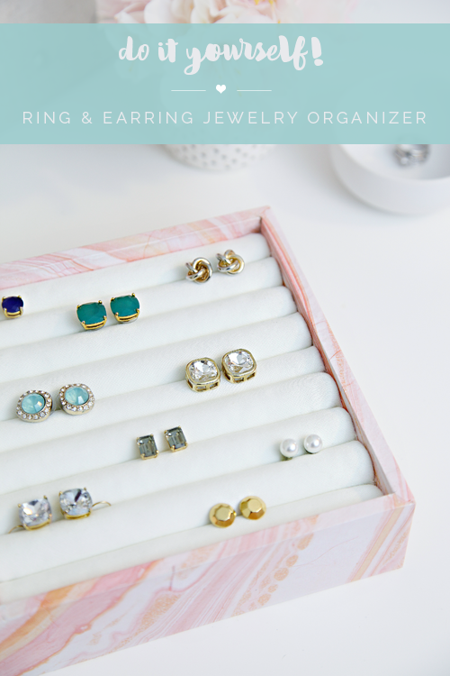 23 DIY Ring Earring Jewelry Organizer Organizing Top drawer and