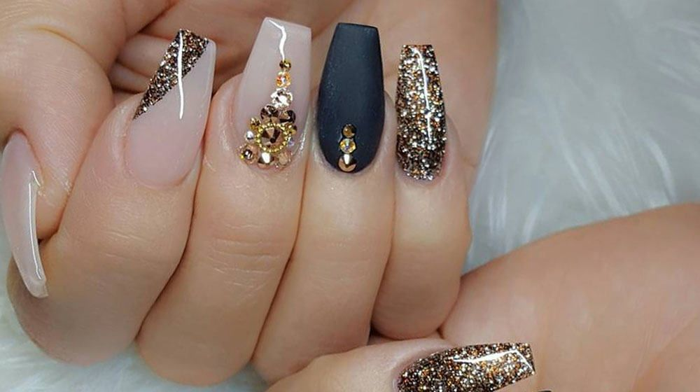 Most popular coffin nail designs to try yourself uas con piedras most popular coffin nail designs to try yourself coffin nails solutioingenieria Gallery