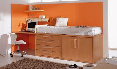 Poco espacio home pinterest dormitorios juveniles for Ideas dormitorios juveniles poco espacio