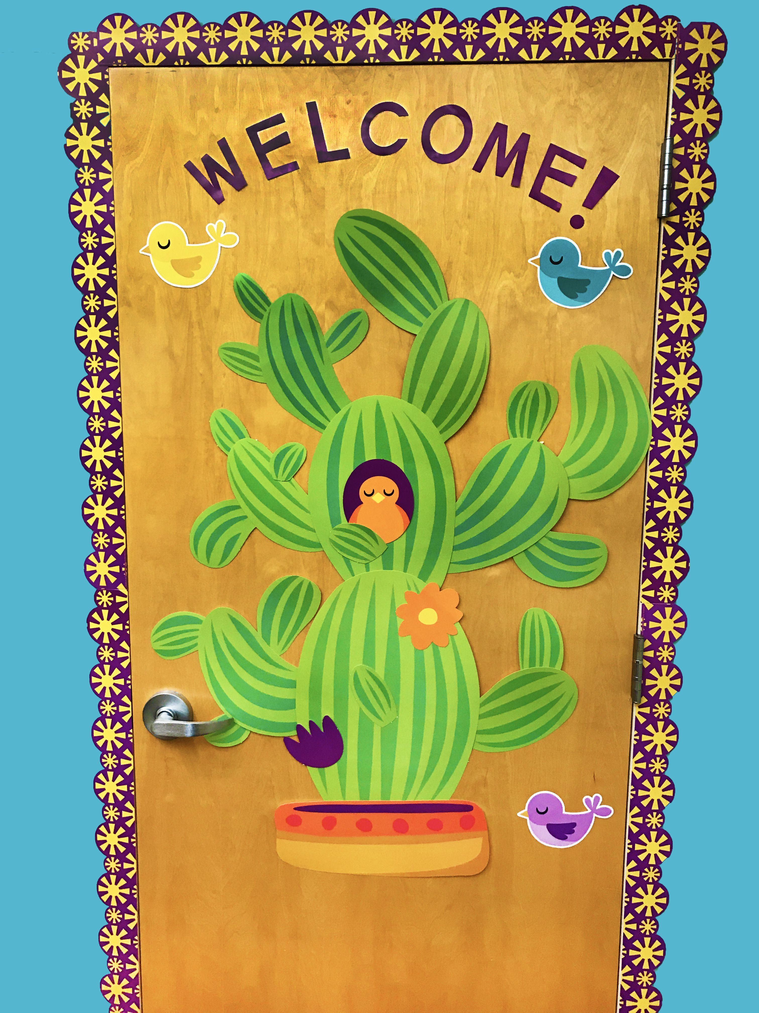 Cactus classroom decorations. Door decorations   Eureka A ...