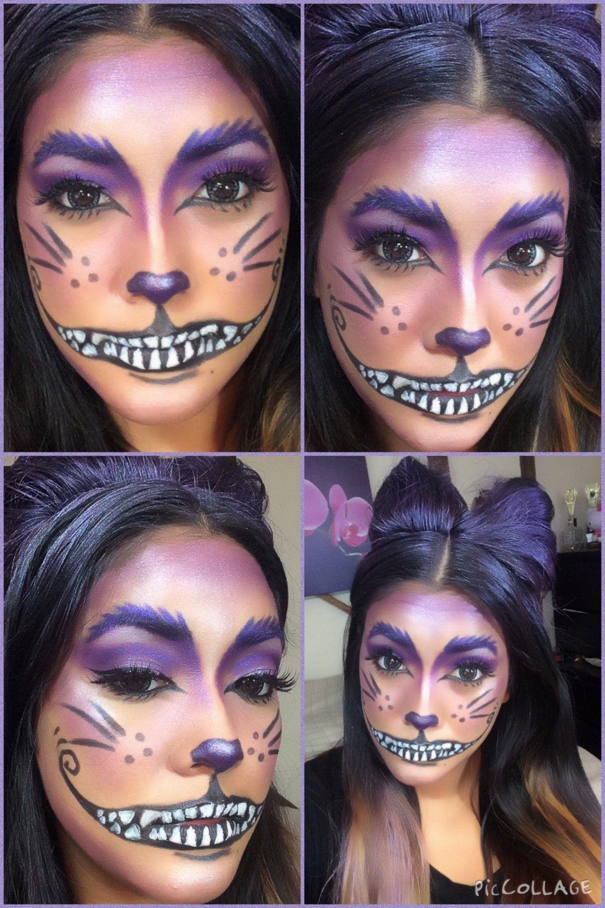 Cheshire Cat Halloween Makeup Tutorial … | Cat halloween ...