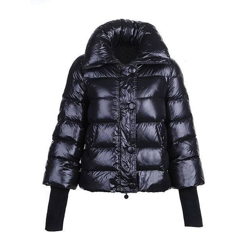 Women Moncler Black Tulsa Bubble Matte Jacket