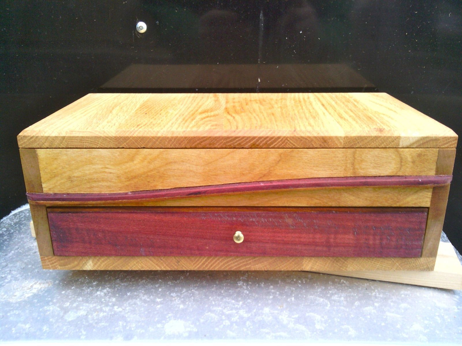 Custom Made Solid Wooden Jewelry Box Wood boxes Pinterest