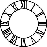 Roman Numeral Clock Face Gear SVG and Studio 3 File Cutouts for Cricut Silhouette Files SVGs Downloads Gears Stencils