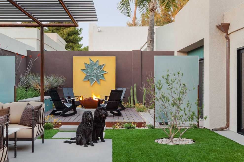 Modern wall art for backyard. | backyard Eschmeyer Meehan SF ...