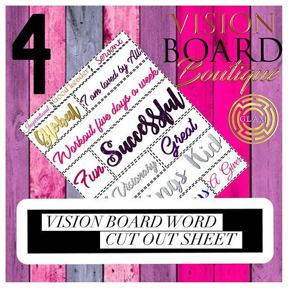 Vision Board | Printable Worksheet | Quotes | Download | Positive ...