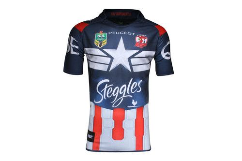 Sydney Roosters 2015 NRL Super Hero Ltd Edition S/S Replica Rugby Shirt