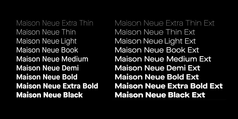 Maison Neue extended | Typography _ Sans Serif | Maison neue