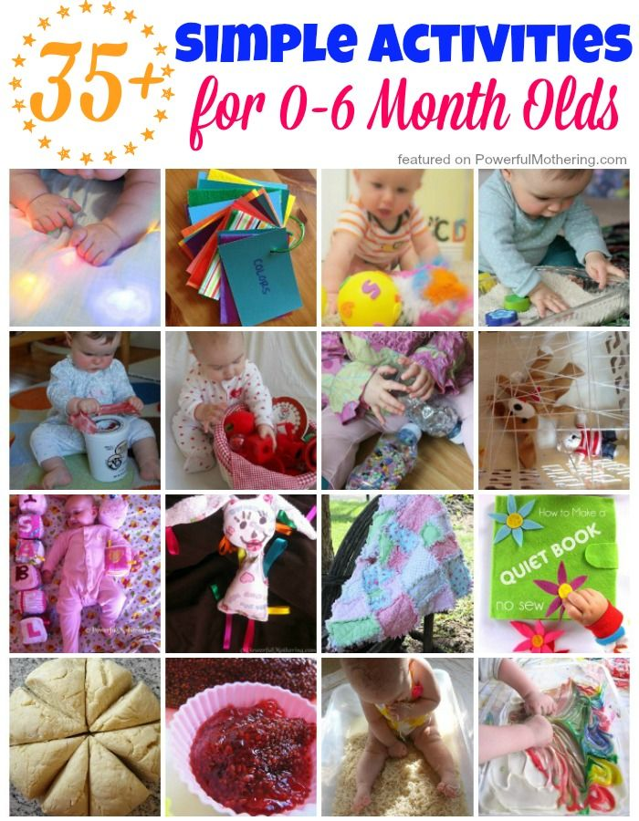 35 Simple Activities For 0 6 Month Olds Kid Blogger Network