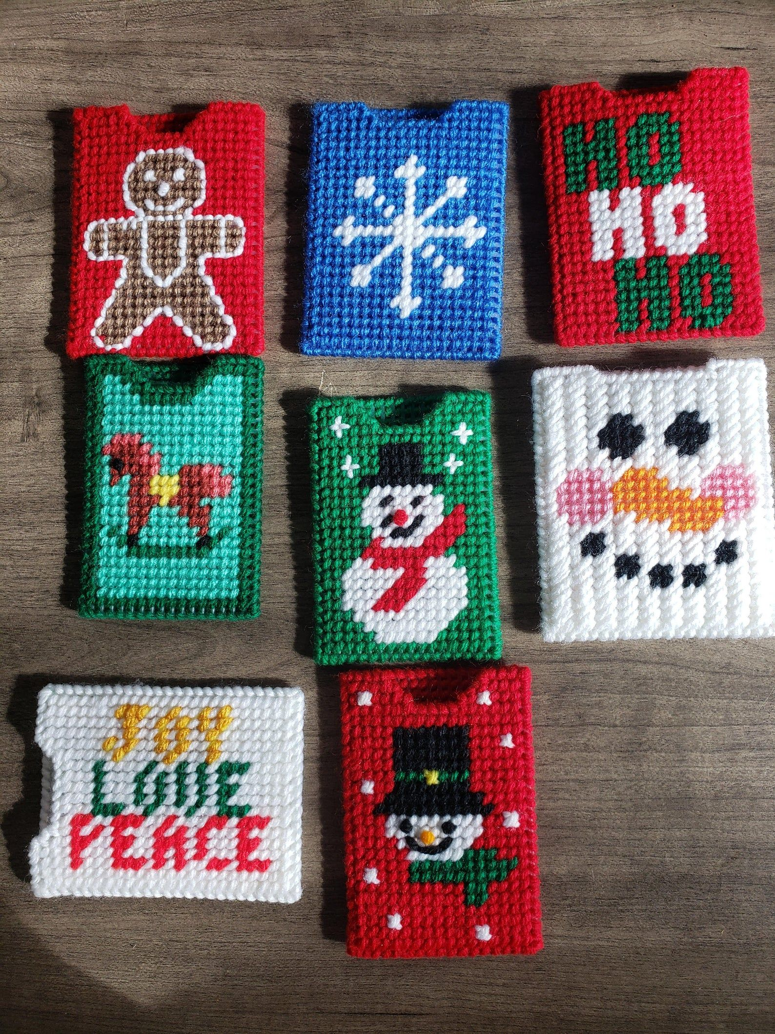 Christmas gift cardmoney holders etsy plastic canvas