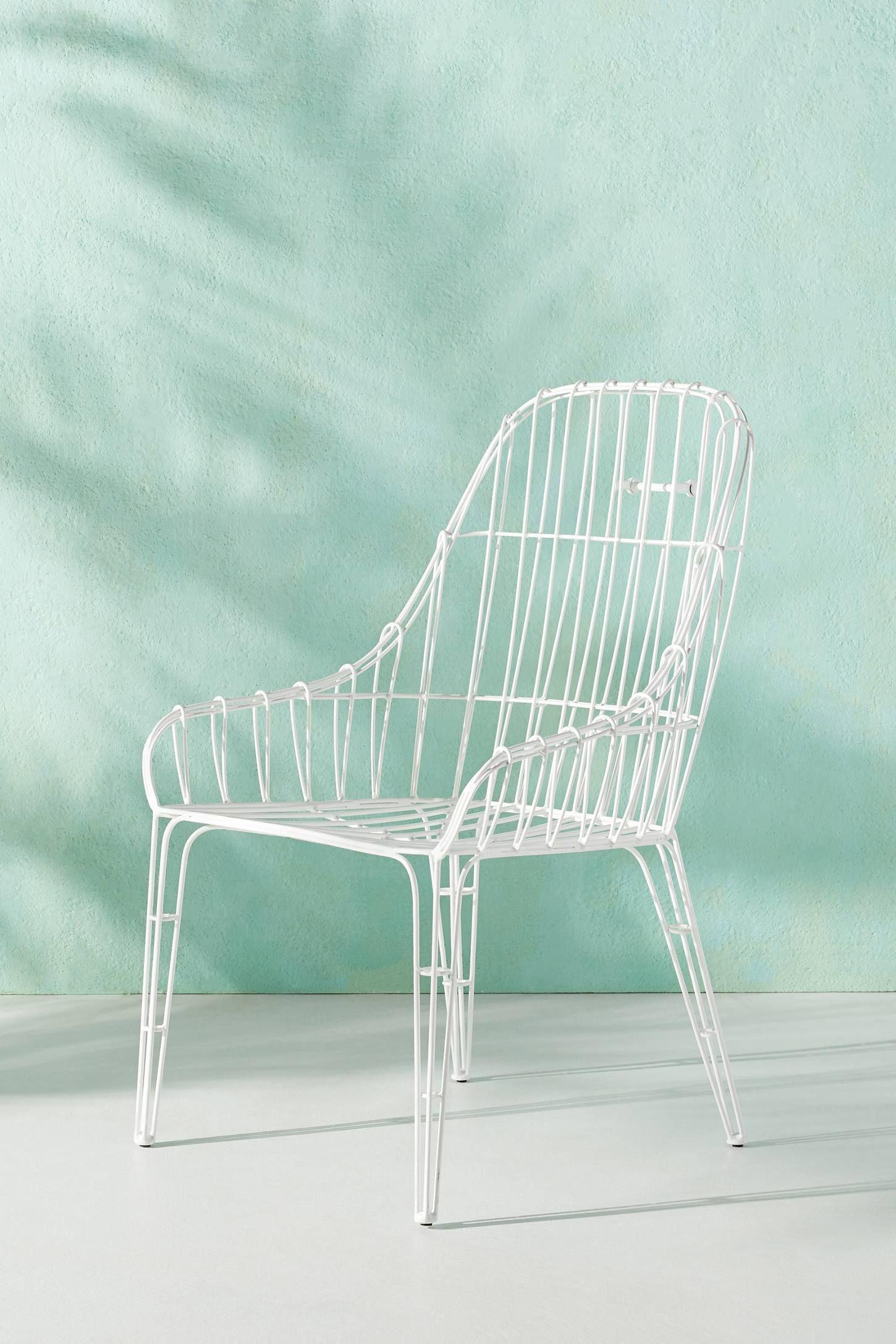 Wire Elowen Indoor Outdoor Dining Chair Anthropologie Wire