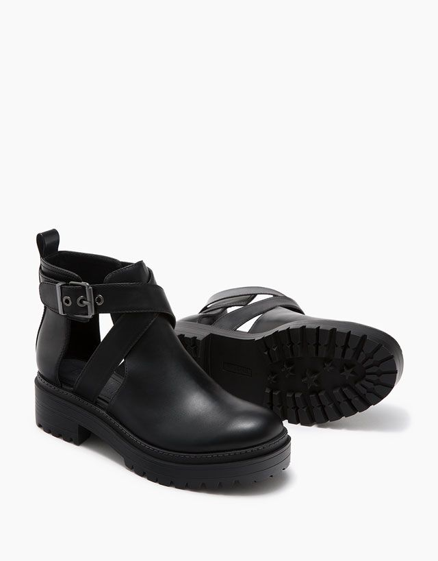 b4e6bb16599 Boots   Ankle boots - View All - SHOES - WOMAN - Bershka Indonesia ...