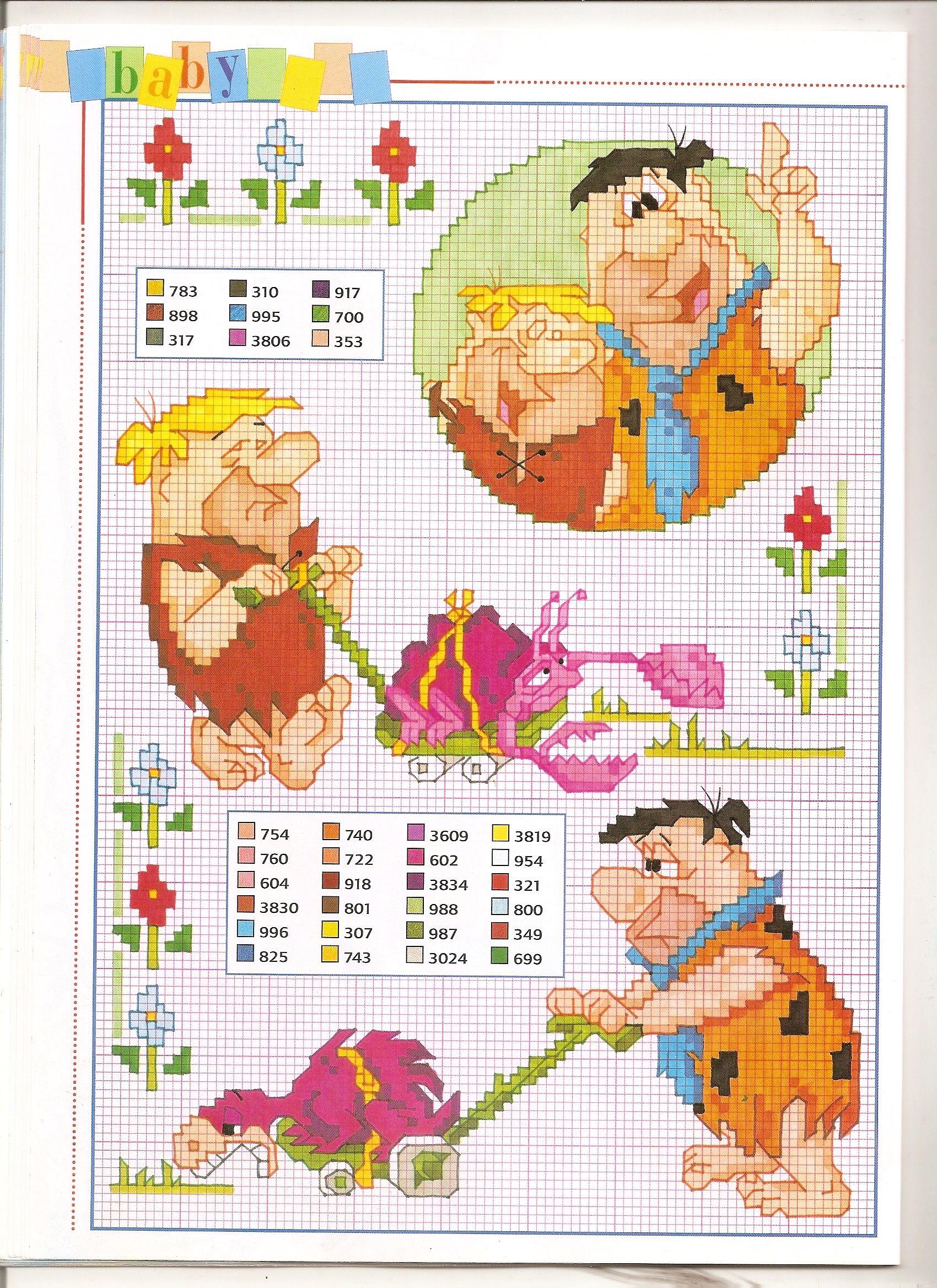 The flintstones punto croce in pinterest cross stitch