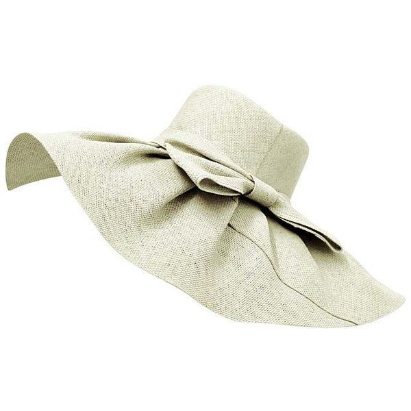 28f71a5e Ivory Elegant Toyo Wide Brim Floppy Hat ($30) ❤ liked on Polyvore featuring  accessories, hats, floppy, ivory, floppy beach hat, beach hat, floppy straw  hat ...