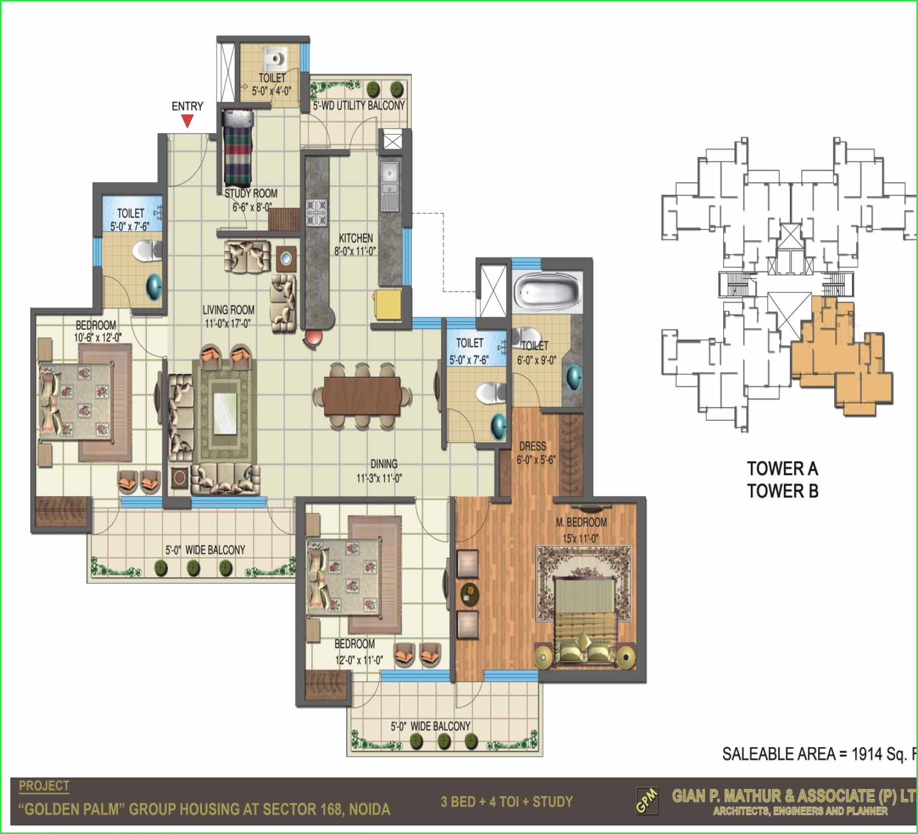 Nimbus The Golden Palms Offer 1 Bhk Studio Apartments 2 3 Apartmnets And 4 In Noida Expressway