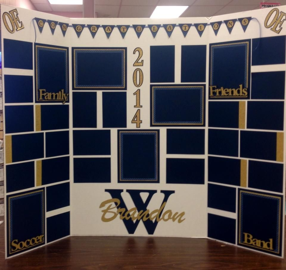 Display Board For Graduation Just Add Pictures Over The
