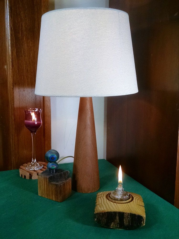 For Home /& Office Decor Handmade Table Lamp Wooden Design