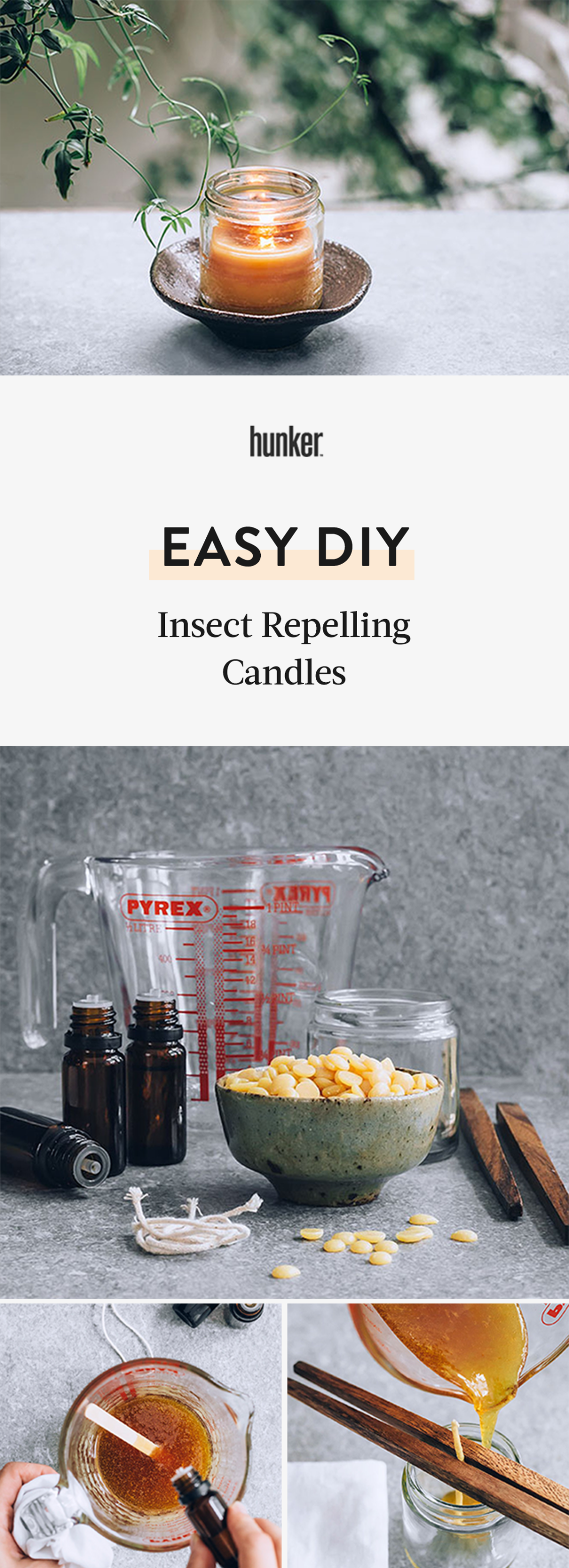 This DIY Candle Keeps Bugs Away on Your Patio or Balcony