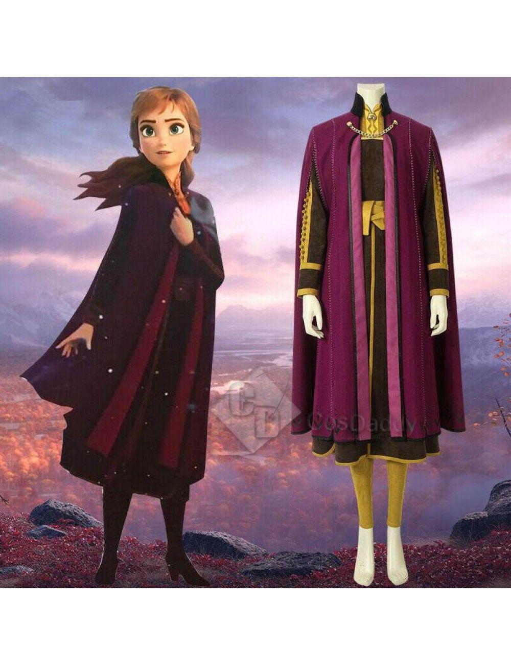 df0d4df4ecf Frozen 2 Princess Anna Cosplay Costume | Frozen 2 | Anna frozen ...