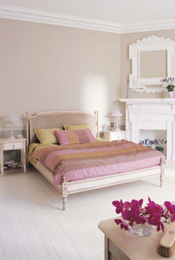 Feminine Pink Bedroom Orchids