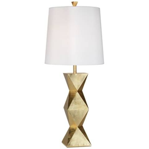 Ripley Gold Finish Modern Table Lamp 2x122 Lamps Plus Modern Table Lamp Gold Table Lamp Table Lamp