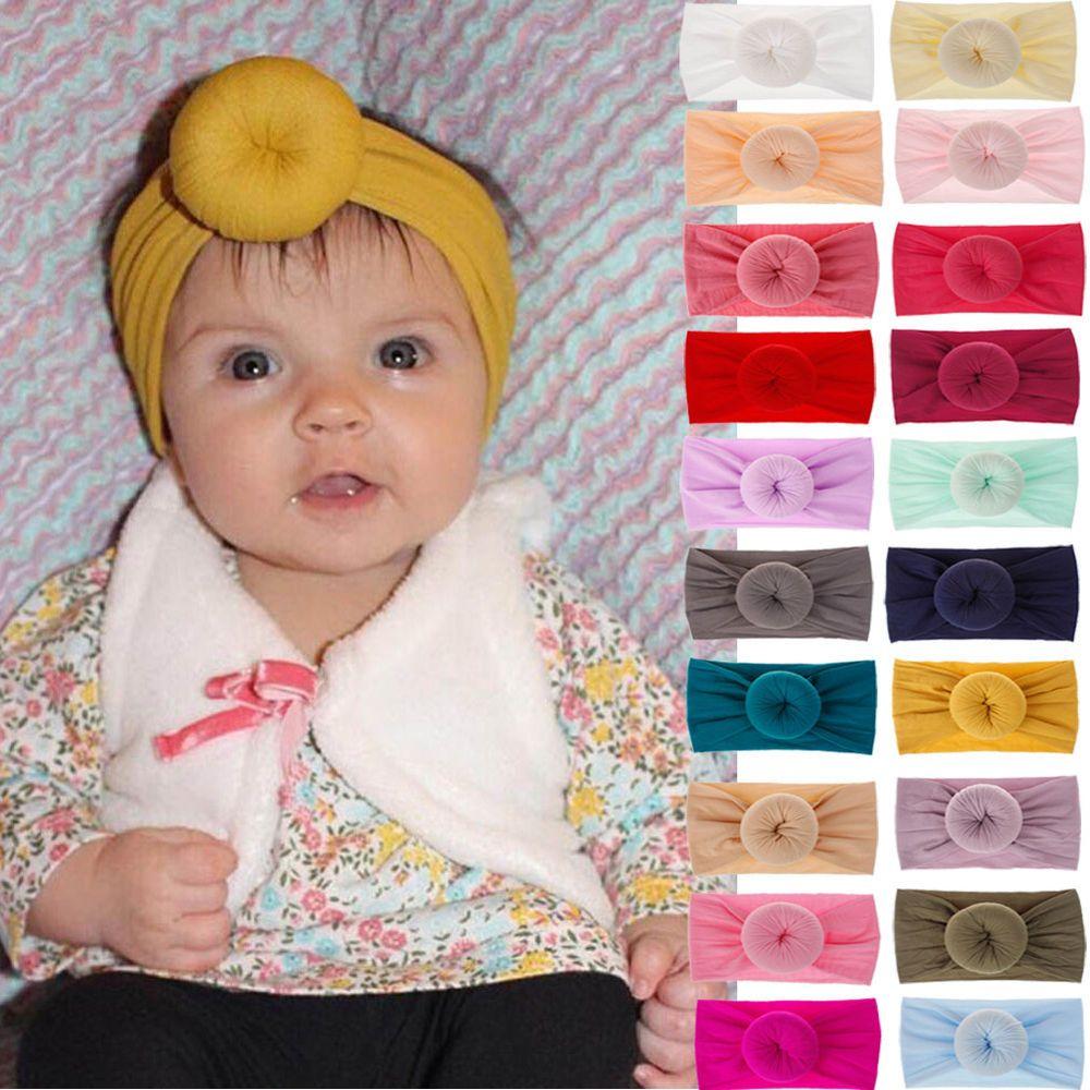 Hair Accessories Bow Hairband Knotted Turban Toddler Turban Baby Nylon Headband