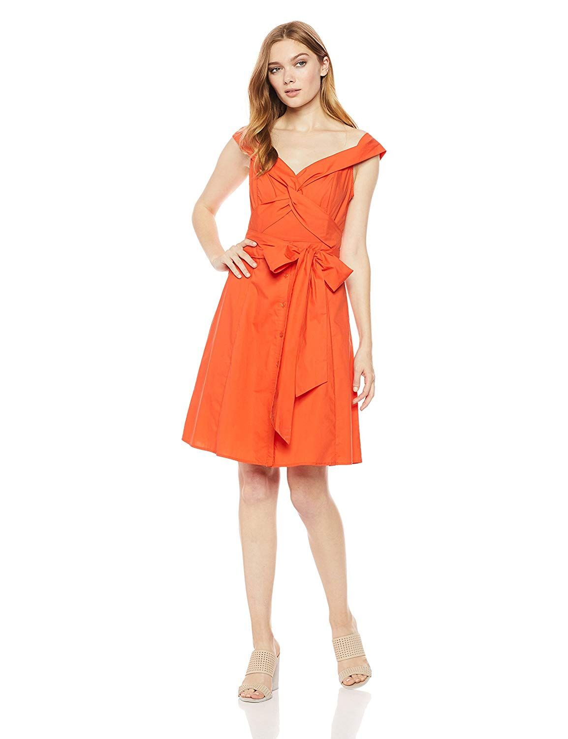 Astr The Label Women S Brittany Off The Shoulder Fit Flare Casual Dress With Belt At Amazon Women S Clothing Sto Flare Dress Casual Casual Dress Orange Dress [ 1500 x 1154 Pixel ]