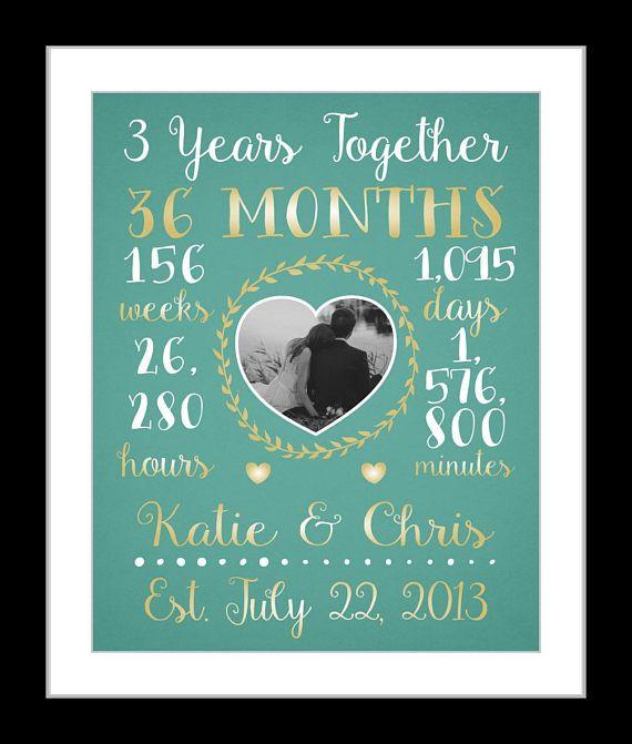 Any Or 3 Year Anniversary Gift Wedding
