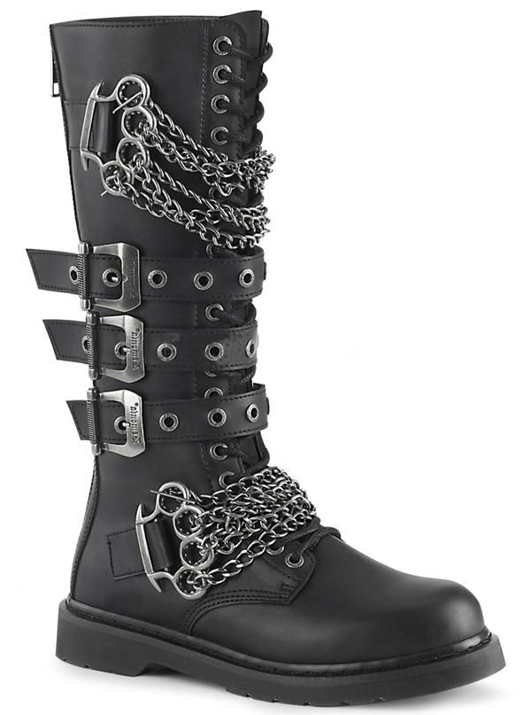 Unisex Bolt 450 Knee High Combat Boot By Demonia Combat Boots Knee High Combat Boots Boots