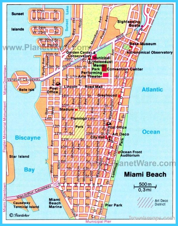 nice Map of Miami Florida Travelsmaps Pinterest