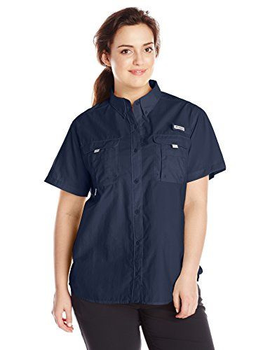 ca49f3ce0dafb Columbia Sportswear Womens Plus Bahama Short Sleeve Shirt Collegiate Navy  1X    Read more at the image link.