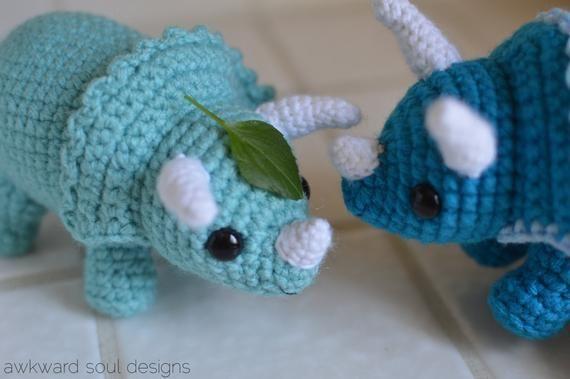 Triceratops Stegosaurus Dinosaur Amigurumi Crochet Pattern PDF Bundle Pack