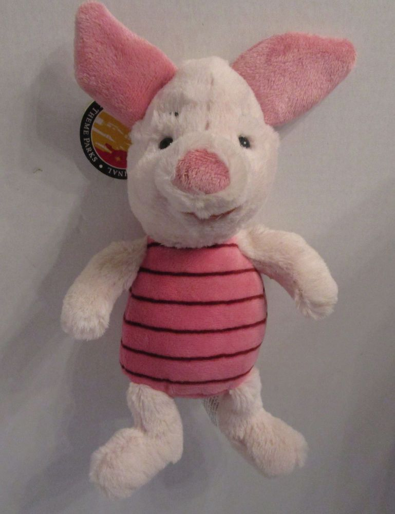 Piglet Plush Toy Doll 9 Bean Bag Winnie The Pooh Disney Parks New