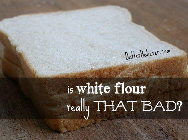 la harina blanc, en realidad es tan mala?