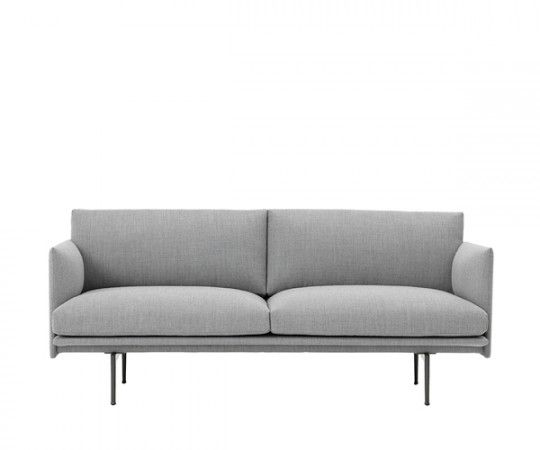 sofa stof 2 pers Muuto   Outline Sofa   2 pers.   Fiord 151   Stof | 三人沙发  sofa stof 2 pers