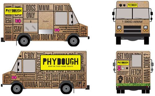 phydough dog bakery food truck adorable