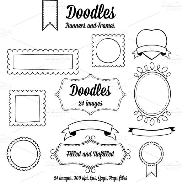 Doodle Banners and Frames | Pinterest | Doodles, Banners and Creative