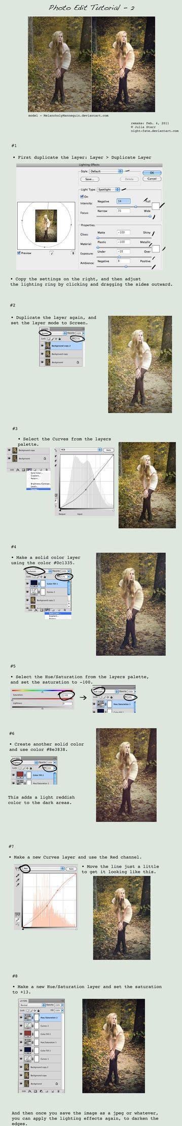 Lots of Photoshop editing tutorials