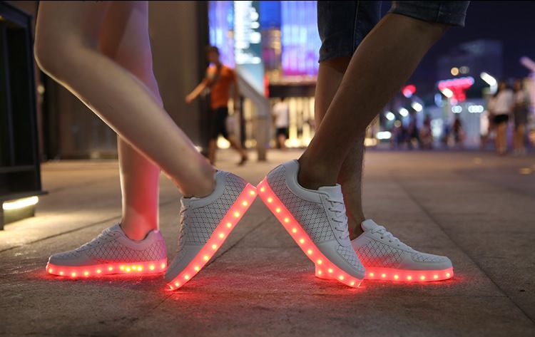 8 Colors LED luminous shoes for women and men led sneakers USB charging  light led shoes