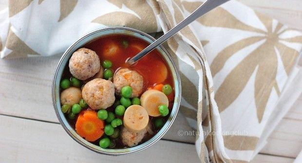 Natural Cooking Club Sup Tomat Bola Ayam Sup Tomat Memasak Makanan