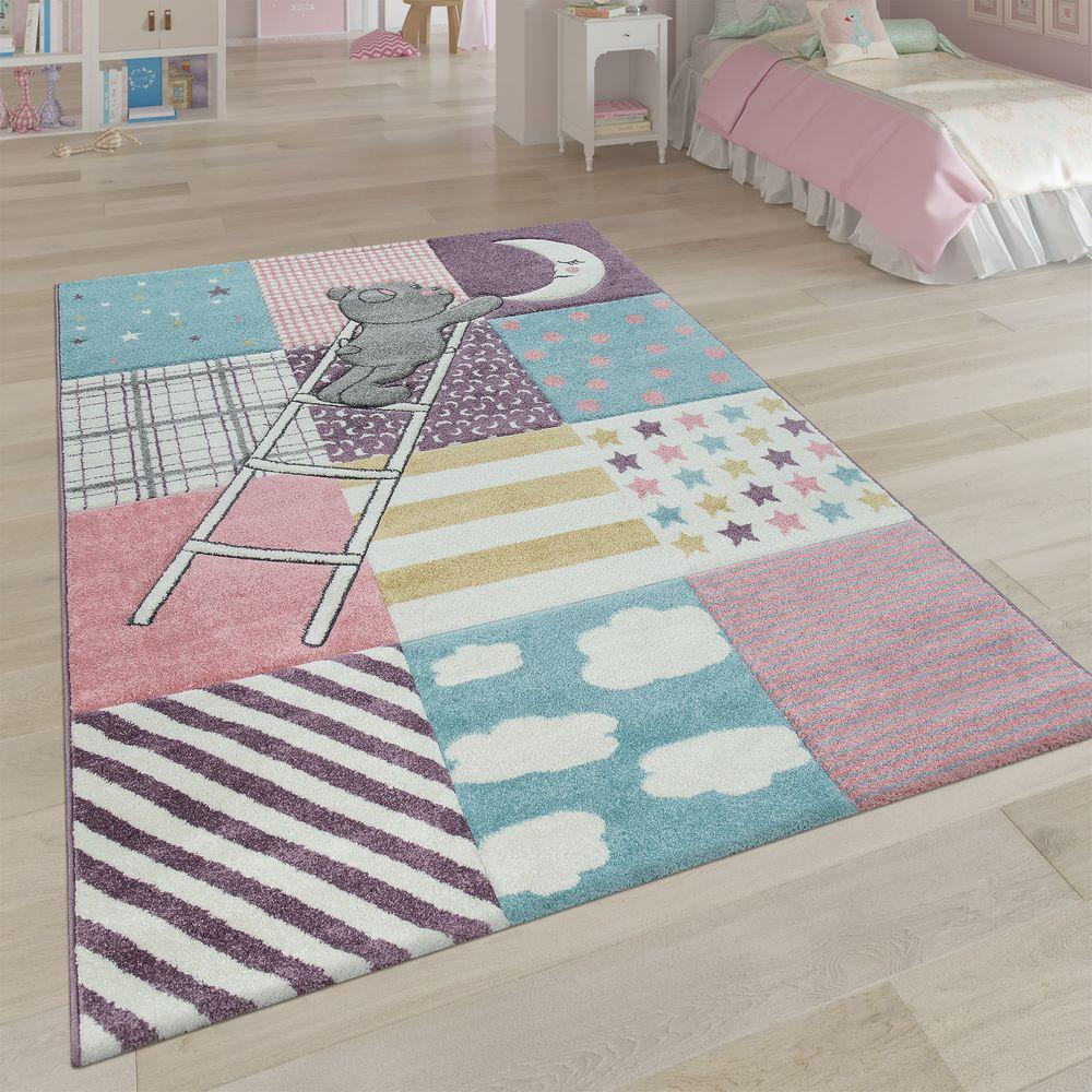 Kinderzimmer Teppich BärenDesign Rosa Teppich