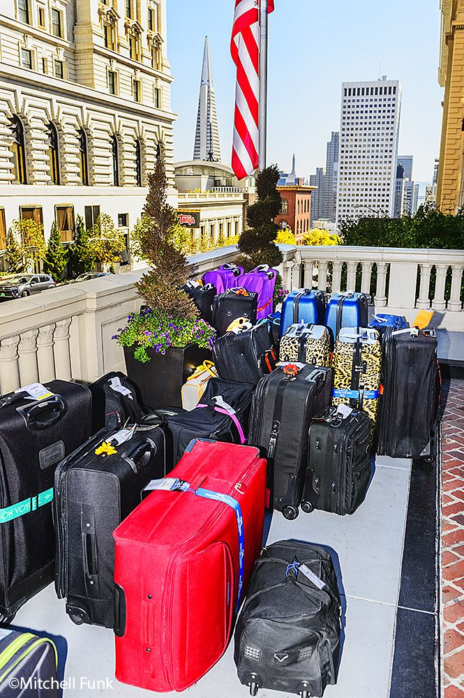 Luggage At The Mak Hopkins Hotel On Nob Hill, San Francisco  www.mitchellfunk.com