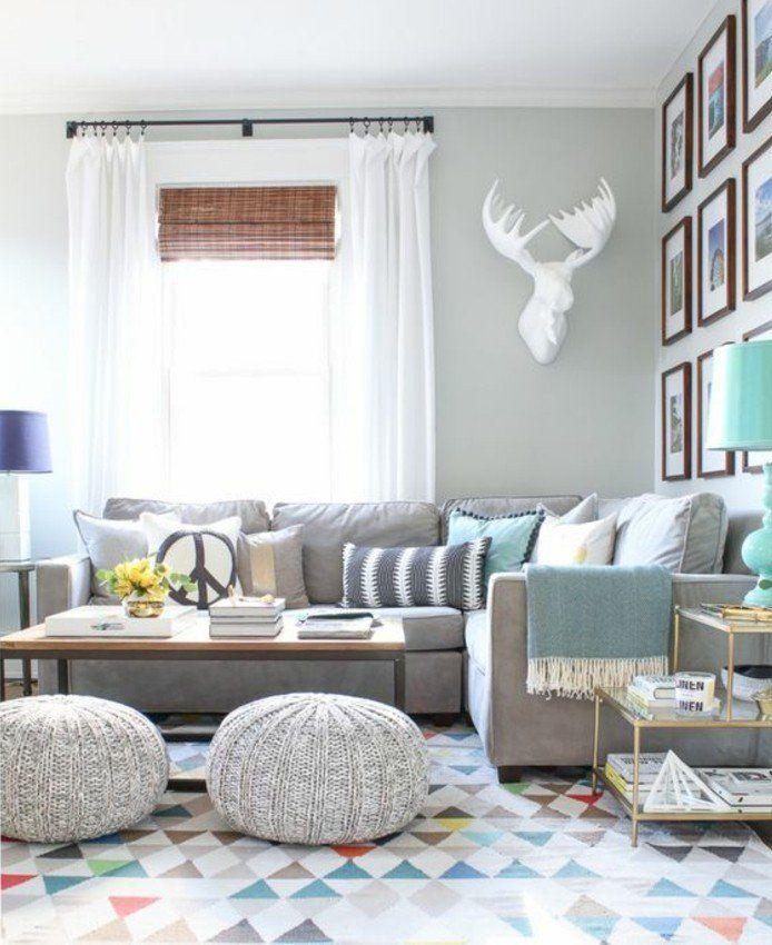 Déco salon gris - 88 super idées pleines de charme - decoration salon en gris